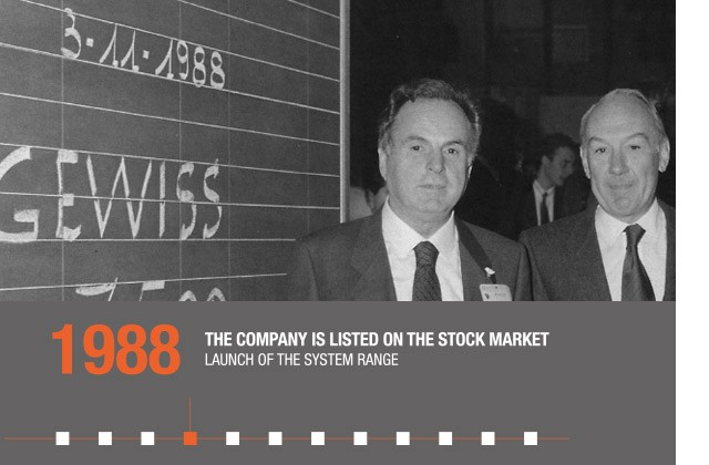 1988 - THE COMPANY IS LISTED ON THE STOCK MARKET