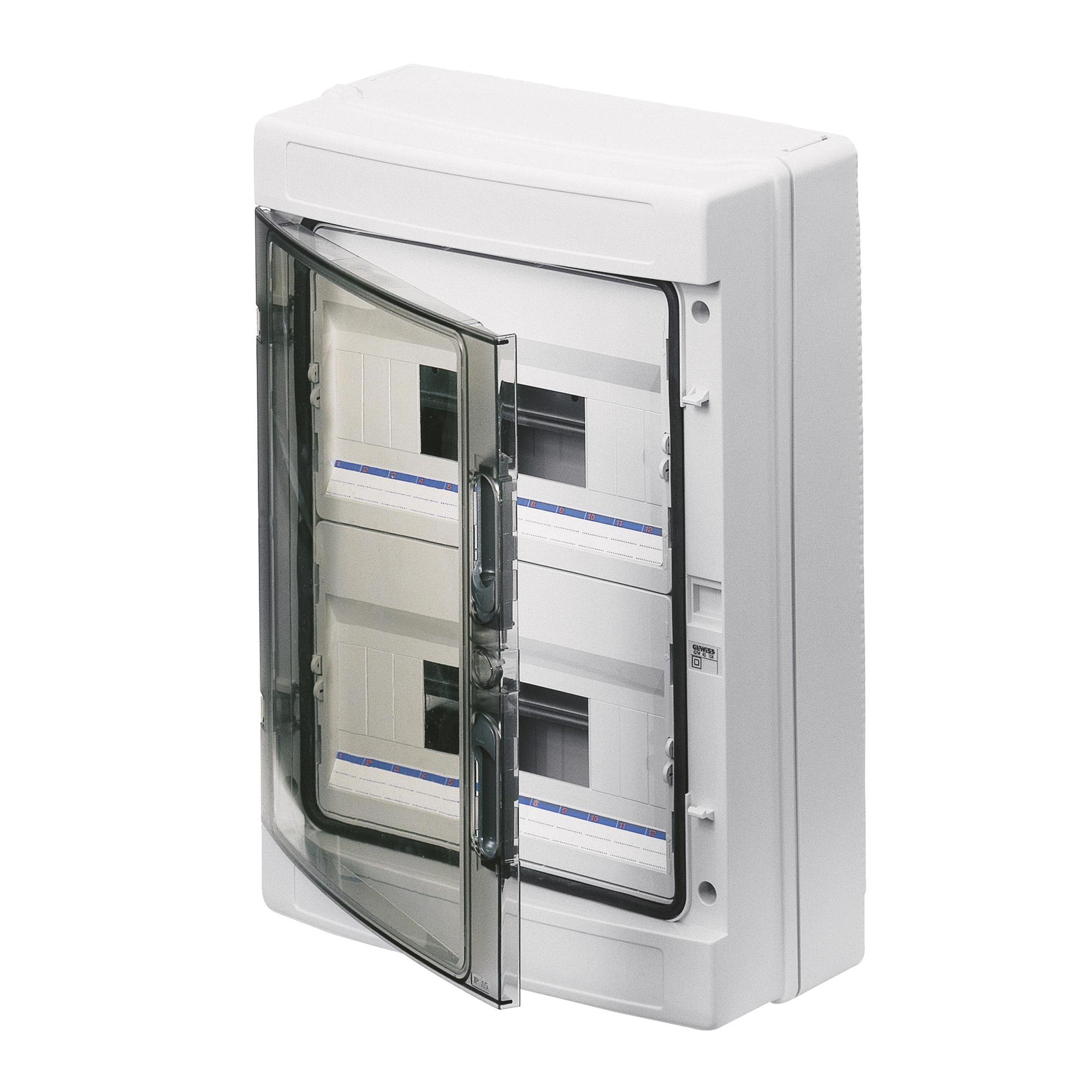350 mm, 100 mm, 280 mm Caja para cuadro el/éctrico Gewiss GW40047 caja el/éctrica