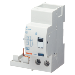 ADD ON RESIDUAL CURRENT CIRCUIT BREAKER FOR MT CIRCUIT BREAKER - 2P 63A TYPE AC INSTANTANEOUS Idn=0,03A - 2 MODULES