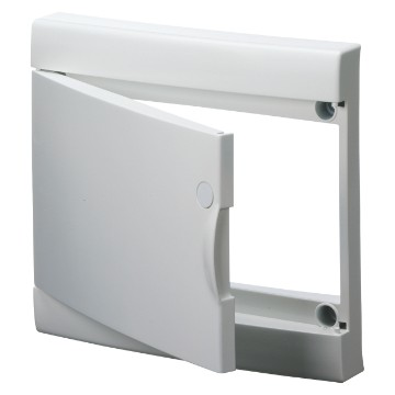 Blank door with frame for finishing French Standard modular enclosures without door White RAL 9016 - IP40