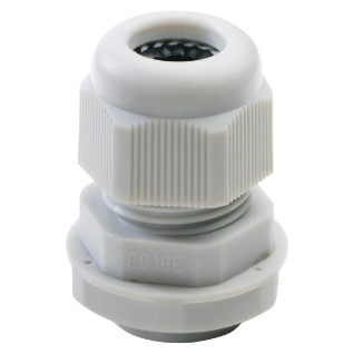 NYLON CABLE GLAND -  PG PITCH 9 - GREY RAL 7035 - IP68