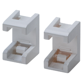 PAIR OF PIPE FITTINGS FOR VERTICAL AND HORIZONTAL COUPLING OF ENCLOSURES - CLIP FIXING TYPE