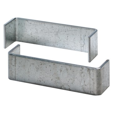 Pair of joints for combined coupling of enclosures for plasterboard walls