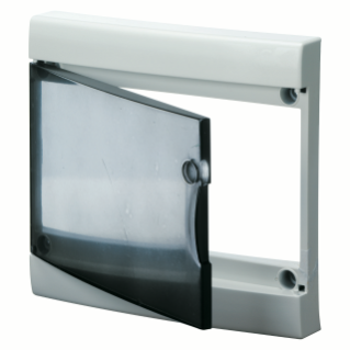 TRANSPARENT SMOKED DOOR WITH FRAME FOR FINISHING FRENCH STANDARD MODULAR ENCLOSURES WITHOUT DOOR - IP40 - 52 MODULES