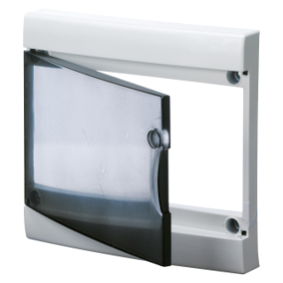 TRANSPARENT SMOKED DOOR WITH FRAME FOR FINISHING FRENCH STANDARD MODULAR ENCLOSURES WITHOUT DOOR - IP40 - 13 MODULES