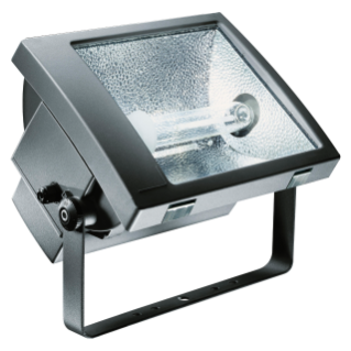 TITANO - WITH LAMP - SYMMETRICAL DIFFUSED OPTIC - 400 W MT 1 kV E40 230 V-50 Hz - IP66 - CLASS I - GRAPHITE GREY