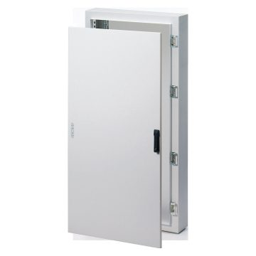 Monobloc distribution boards in painted sheet steel - Colour Grey RAL 7035 Solid sheet metal door equipped with rod-mechanism lock - With extractable frame