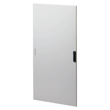 Solid doors in painted sheet steel for IP65 distribution boards equipped with rod-mechanism closures