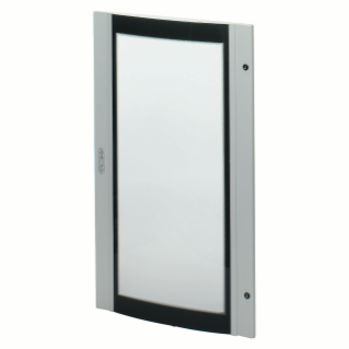 CURVED GLASS DOOR - FOR 38 LAN BOARD - 700X1000 - GREY RAL 7035