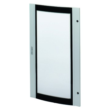 Smoked curved tempered safety glass doors for IP40 distribution boards