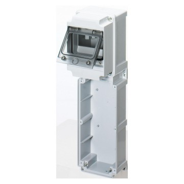 Modular bases with panel and with window with EN 50022 din rail - IP66