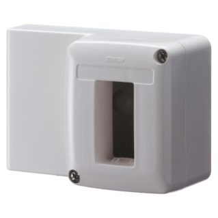 SELF-SUPPORTING DEVICE BOX  FOR SYSTEM DEVICE - FOR MINI TRUNKING - 1 GANG - WHITE RAL 9010