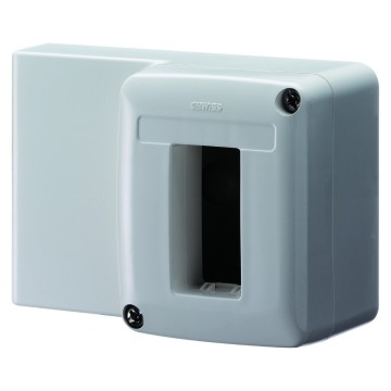 Self-supporting device-holder boxes for mini-trunking for cables single and twin-trunking