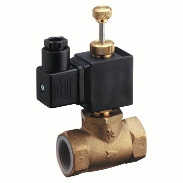 Solenoid valve, with manual reset, normally open - 230V - 50Hz