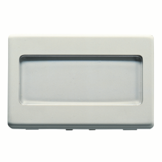 PUSH-BUTTON WITH BACKLIT NAME PLATE 250V ac - NO 10A - 3 MODULES - SYSTEM WHITE