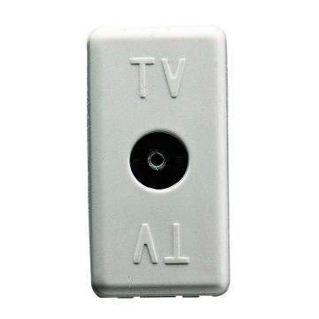 Resistive coaxial TV sockets (40-860 MHz) - IEC female connector Ø 9.5mm