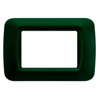 TOP SYSTEM PLATE - IN TECHNOPOLYMER GLOSS FINISHING - 3 GANG - RACING GREEN - SYSTEM