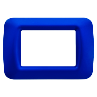 TOP SYSTEM PLATE - IN TECHNOPOLYMER GLOSS FINISHING - 3 GANG - JAZZ BLUE - SYSTEM