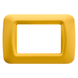 TOP SYSTEM PLATE - IN TECHNOPOLYMER GLOSS FINISHING - 3 GANG - CORN YELLOW - SYSTEM