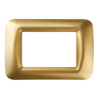 TOP SYSTEM PLATE - IN TECHNOPOLYMER GLOSS FINISH - 3 GANG - ANTIQUE GOLD - SYSTEM