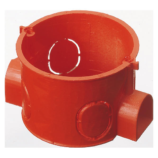 ROUND MODULAR FLUSH-MOUNTING BOX - HALOGEN FREE - DIAMETER 60x42