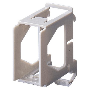 Supports for assembling SYSTEM devices on DIN rail