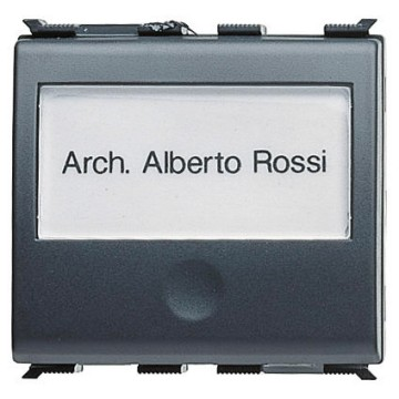 Push-button with backlit name-plate - 250V ac