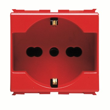 Italian/German standard socket-outlets for dedicated lines - 250V ac