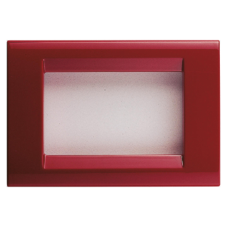 PLAYBUS PLATE - IN TECHNOPOLYMER GLOSSY FINISH - 3 GANG - CLASSIC BURGUNDY - PLAYBUS