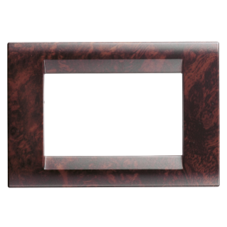 PLAYBUS PLATE - IN TECHNOPOLYMER  - 1 GANG - ENGLISH WALNUT - PLAYBUS