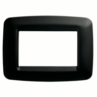 PLAYBUS YOUNG PLATE - IN TECHNOPOLYMER - SATIN FINISHING - 6 GANG - TONER BLACK - PLAYBUS