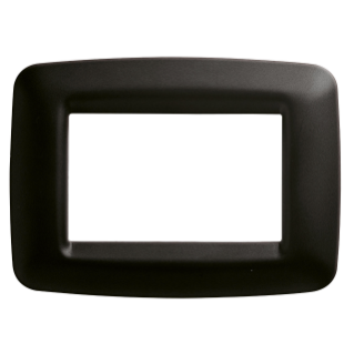 PLAYBUS YOUNG PLATE - IN TECHNOPOLYMER - SATIN FINISHING - 3 GANG - TONER BLACK - PLAYBUS