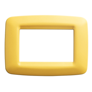 PLAYBUS YOUNG PLATE - IN TECHNOPOLYMER - SATIN FINISHING - 1 GANG - CORN YELLOW - PLAYBUS