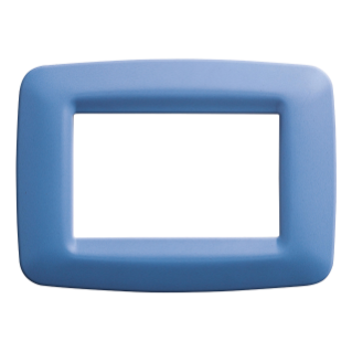 PLAYBUS YOUNG PLATE - IN TECHNOPOLYMER - SATIN FINISHING - 4 GANG - SKY BLUE - PLAYBUS