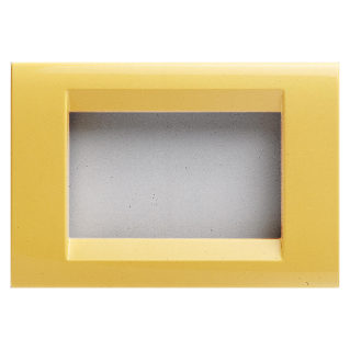 PLAYBUS PLATE - IN TECHNOPOLYMER GLOSSY FINISH - 2 GANG - CORN YELLOW - PLAYBUS