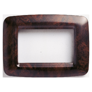PLAYBUS YOUNG PLATE - IN TECHNOPOLYMER - 4 GANG - ENGLISH WALNUT - PLAYBUS