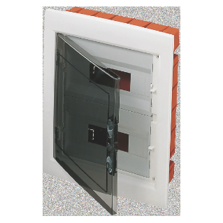 DISTRIBUTION BOARD - PANEL WITH WINDOW AND EXTRACTABLE FRAME - SMOKED DOOR - TERMINAL BLOCK N 2X[(3X16)+(11X10)] E 2X[(3X16)+(11X10)]-(12X2) 24M-IP40