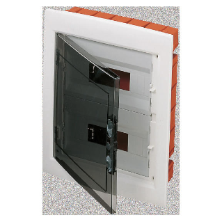DISTRIBUTION BOARD WITH SMOKED TRANSPARENT DOOR (18X2) 24 MODULES IP40