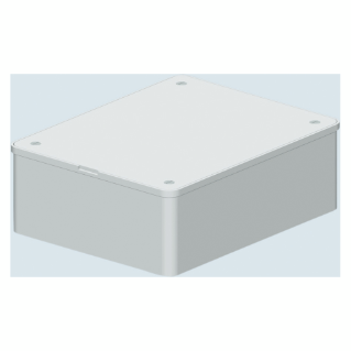 DEEP LID - FOR PT/ PT DIN AND PT GREEN WALL BOXES - 196X152 - IP40 - WHITE RAL9016