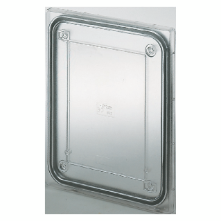 PROTECTED WATERTIGHT TRANSPARENT SHOCKPROOF LID FOR PTC JUNCTION BOXES - DIMENSIONS 138X169X70 - IP55
