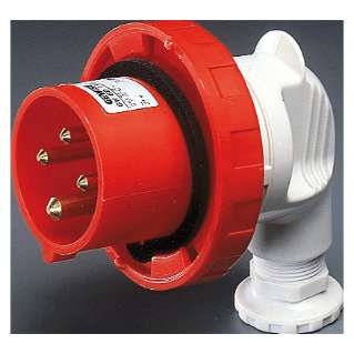 90° PLUG - IP67 - 3P+E 16A 380-415V 50/60HZ - RED - 6H - SCREW WIRING