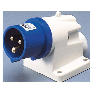 90° ANGLED SURFACE MOUNTING INLET - IP44 - 2P+E 16A 200-250V 50/60HZ - BLUE - 6H - SCREW WIRING