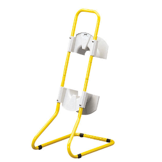 TUBOLAR METAL STAND YELLOW PAINTED - FOR Q-DIN 10M
