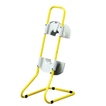 Yellow-painted metal conduit support with support for cables of up to 20 m