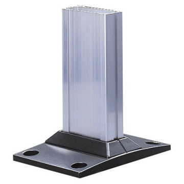 Rectangular base for support column of max. height 1300 mm