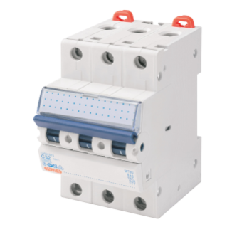 MINIATURE CIRCUIT BREAKER - MT 60- 3P CHARACTERISTIC C 4A - 3 MODULES