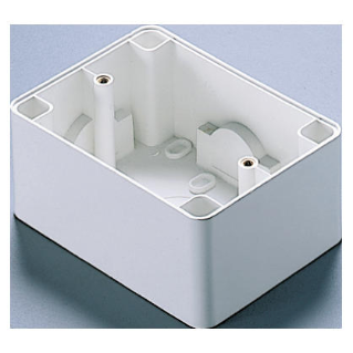 WALL-MOUNTING BOX - FOR COMPACT SELF-SUPPORTING PLATE - 1/2/3 GANG - CLOUD WHITE - SYSTEM