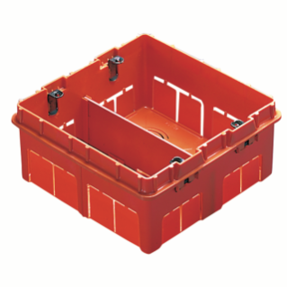 HIGH CAPACITY BOX FOR DOMESTIC - BIG BOX - HALOGEN FREE - 8 GANG (4+4) - 131X129X53