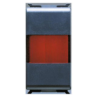 INDICATOR LAMP - 12/24/250 V - SINGLE - RED - 1 MODULE - PLAYBUS