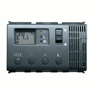 ELECTRONIC SUMMER/WINTER THERMOSTAT - 230V 50HZ - 3 MODULES - PLAYBUS